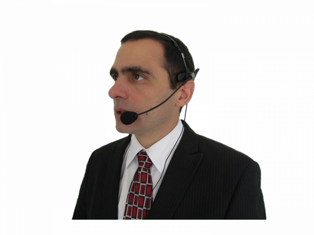 interpreter with headset mic