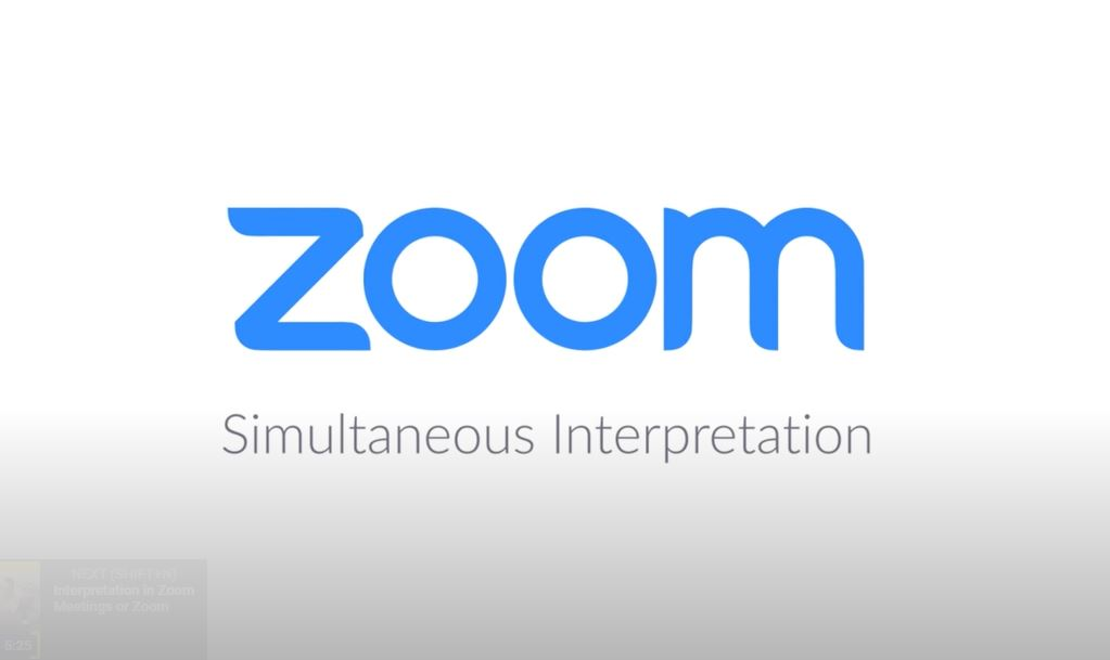 Zoom simultaneous interpretation